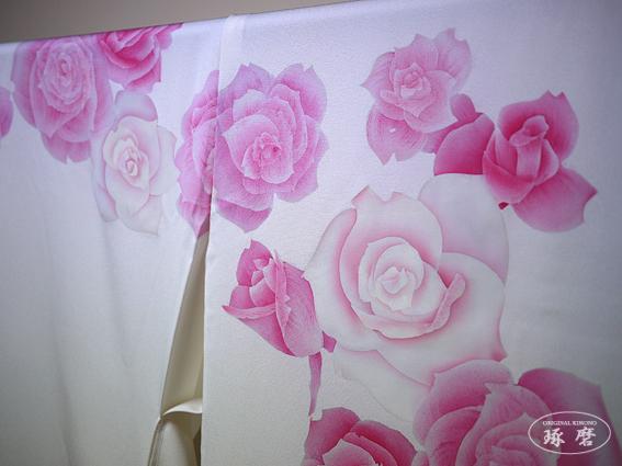 薔薇 (手描きローケツ染) - 引き振袖